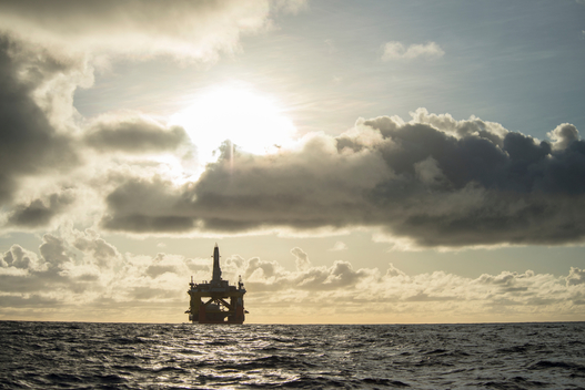 Shell's Oil Rig the Polar Pioneer in Pacific Ocean