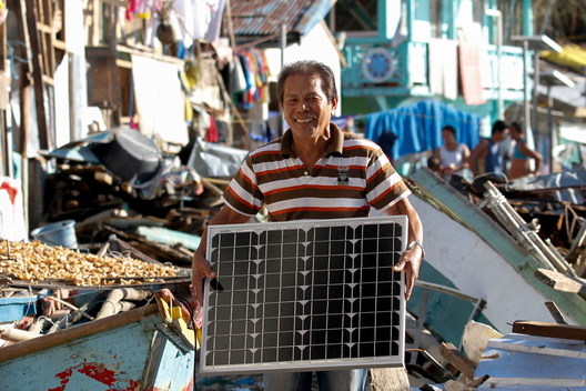 Solar Energy Units for Typhoon Victims in The Philippines