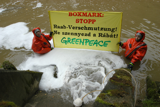 Pollution of Raab River by Boxmark, Austria
