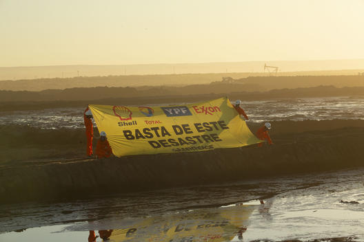 Stop Fracking Patagonia Action in Vaca Muerta, Argentina