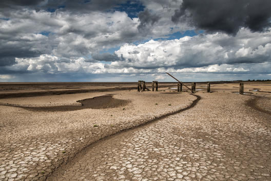 The Wash Estuary in Norfolk, UK