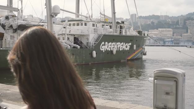 Rainbow Warrior at the Harbour of Genoa - Web Video (Clean version)