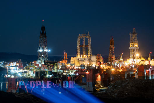 The People vs Arctic Oil - Oil rig Projection in Norway