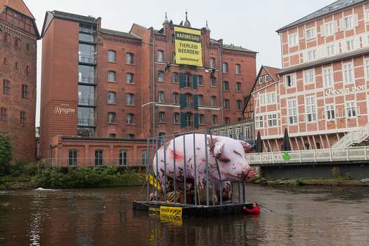 Protest against Animal Suffering at Conference in Luneburg