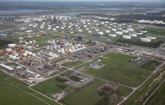 Damage from Hurricane Laura at Chemical Complex in Louisiana