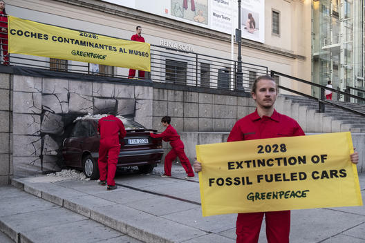 End of the Fossil Fuel Road 'Car Crash' in Madrid