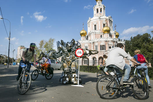 Car Free Day Action in Moscow