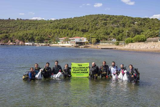 Sea and Beach Cleanup in Heybeli İsland