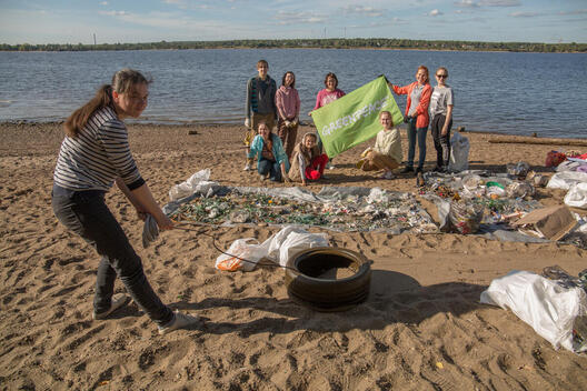 Clean Up and Waste Audit in Perm, Russia