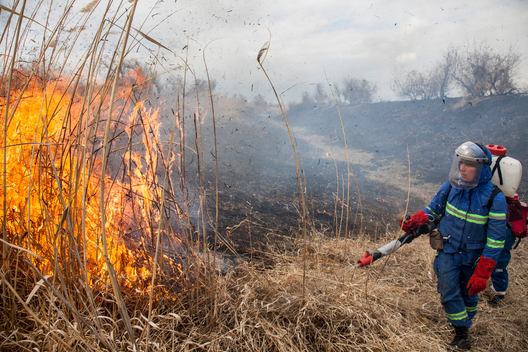 Firefighting Expedition in the Astrakhan Region