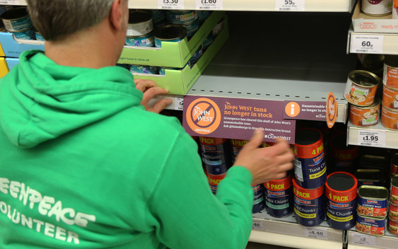 John West Tuna Removal from Sainsbury's in London