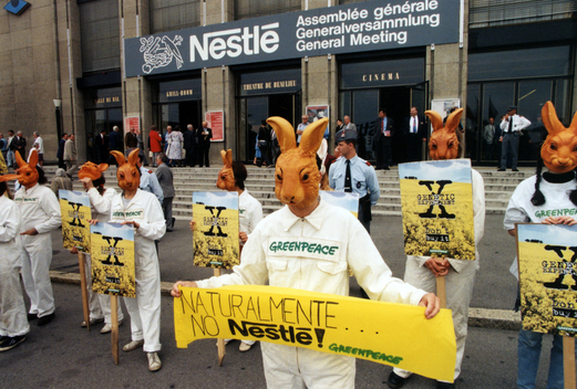 Genetic Engineering Action against Nestle in Lausanne