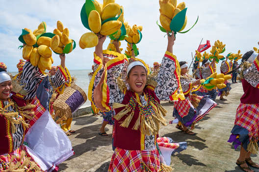 Dancers Welcome the Rainbow Warrior Crew in Guimaras