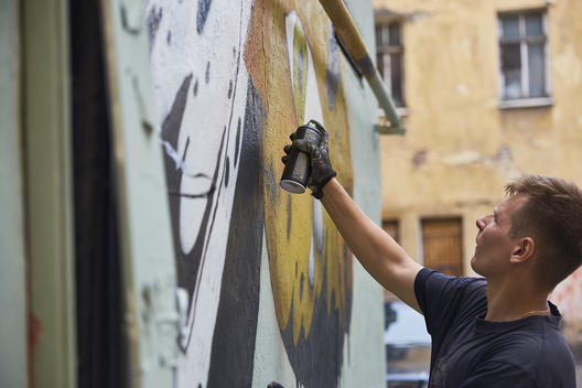 CultureJam vs Oil - Street Art 'Black Gold' in St Petersburg