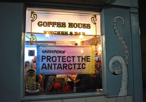 Greenpeace Volunteers in Newcastle support the Antarctic Campaign