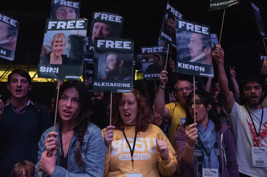 'Free the Arctic 30' Protest at Conference in Pittsburgh