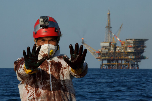 Casablanca Oil Platform Protest Spain
