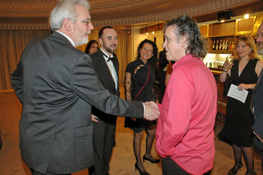 Donovan with Martin Atkin at the Monaco International Film Festival