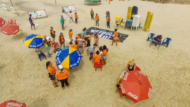 World Amazon Reef Day in Imbé, Brazil