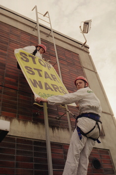 Action against US Star Wars Project in Turku