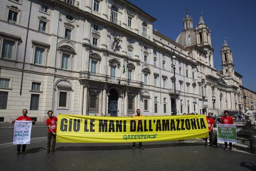 All Eyes on the Amazon - Solidarity Protest in Rome