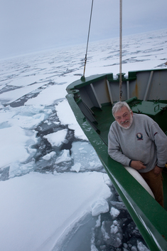 Dr Peter Wadhams in the Arctic