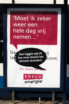Climate Action Eneco Billboards in the Netherlands