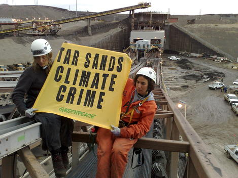 Activists Occupy a Bitumen Conveyor Belt in Canadian Tar Sands