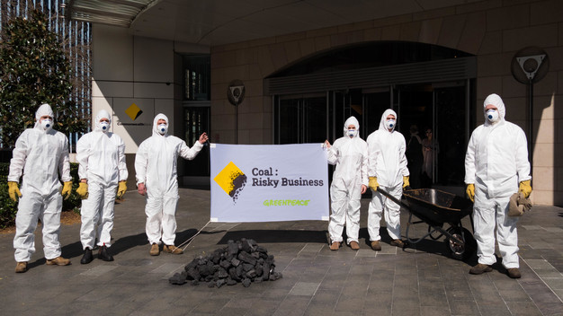 Action at Commbank HQ Sydney Responds to Weak Climate Policy