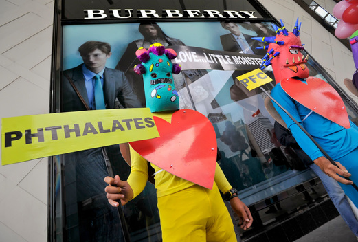 Detox Protest at Burberry Store in Jakarta