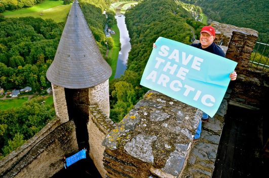 'Mountains and Rooftops' Arctic Sanctuary Action in Luxembourg