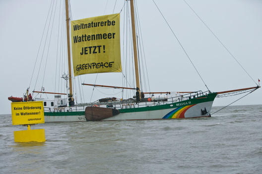 Action against Oil Extraction in Wadden Sea