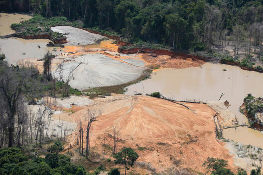 Mining in the Yanomami Indigenous Land in Brazil