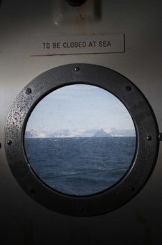 View from Ship Window in Svalbard