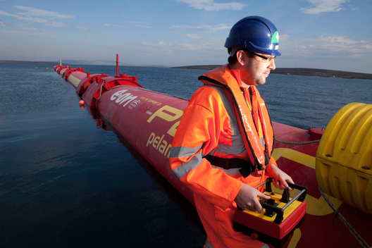 Pelamis Wave Power machine in Orkney