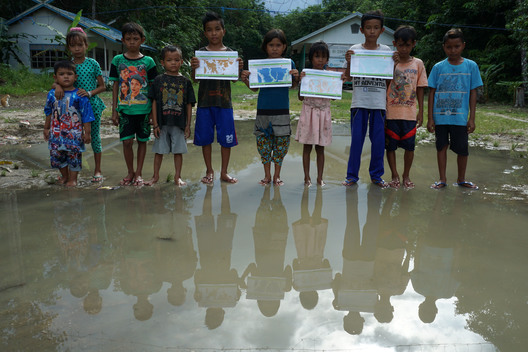 Children hold Forestry Maps in Protest in Central Kalimantan
