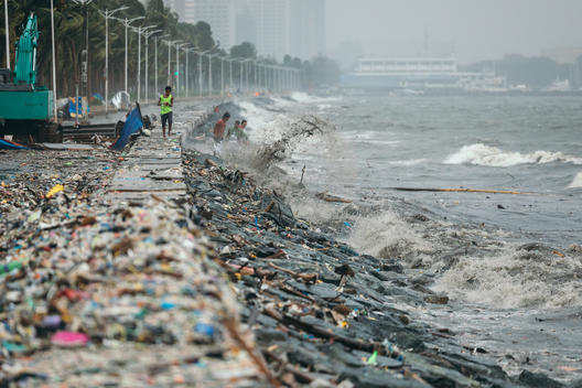 Plastic Waste in Manila Bay
