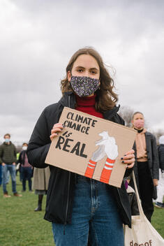 Climate Alert Demonstration in the Netherlands