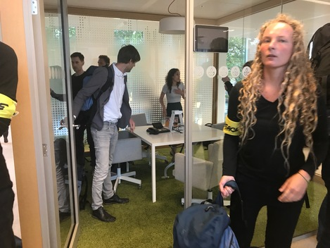 'Glass House' Action at NUON Headquarters in Amsterdam