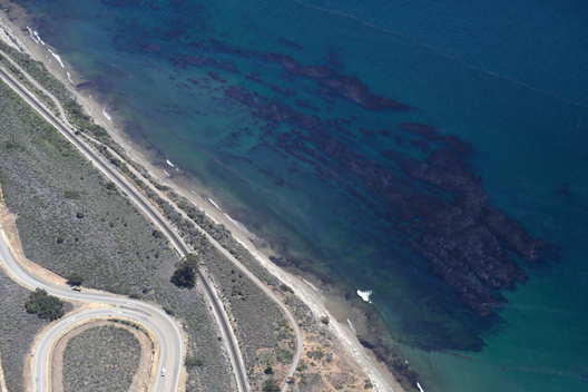 Aerial View of California Oil Spill