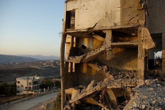 Bombed House - Environmental Consequences of the Israel-Lebanon War - 2006