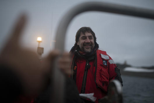 Javier Bardem with Greenpeace in the Antarctic
