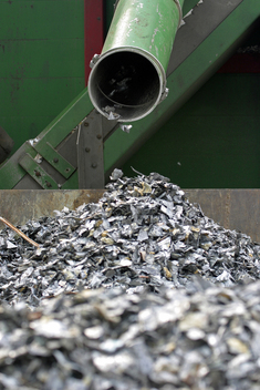 Shredded Metals at Toxics Electronic Waste Recycling Facility in Slovakia