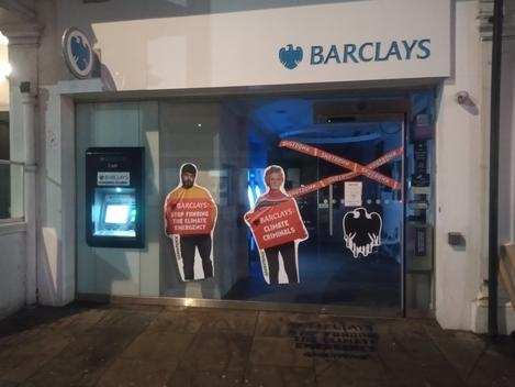 Action against Barclays Bank in  Kensington, London