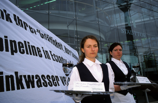 Action against Oil Pipeline in Germany