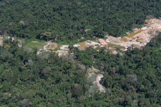 Mining in the Altamira National Forest in Brazil