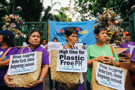 Plastic Waste Delivery at the DENR in Manila