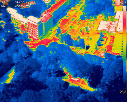Aerial Shots with a Thermal Camera in Germany