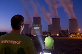 Projection on Coal Plant Jaenschwalde