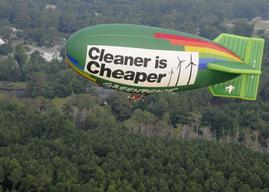 Airship Protests Duke Energy in Wilmington
